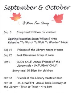 Family Browse Hours @ Moore Free Library