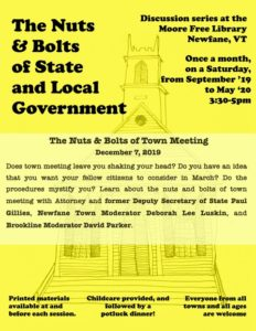 Nuts & Bolts of State & Local Gov't: Town Meeting Process